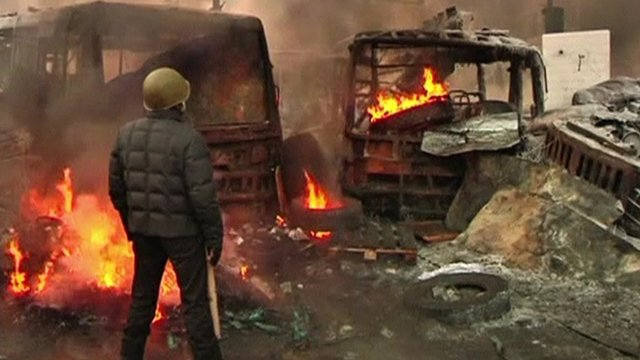 Central Kiev, 25 January
