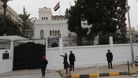 Egyptian embassy, Tripoli (25 Jan)