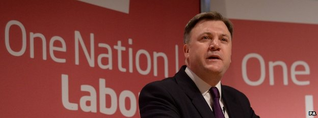 Ed Balls gives a speech