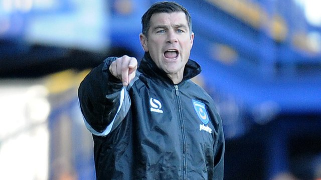 Portsmouth manager Richie Barker