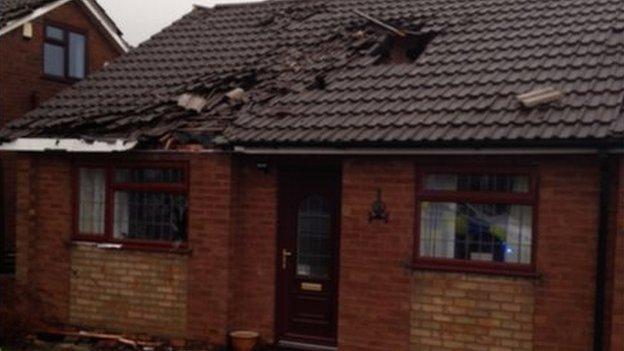 Damaged properties in Warwickshire