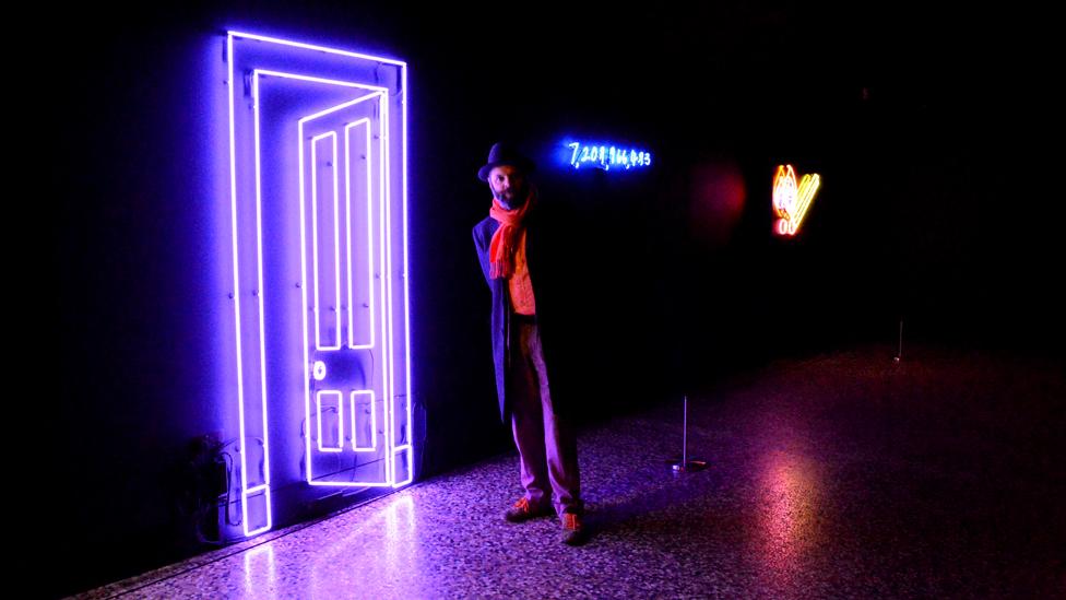 In pictures: Gavin Turk's neon art