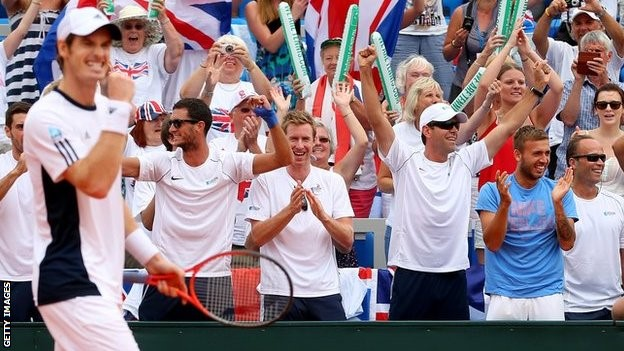 Andy Murray leads Britain's side