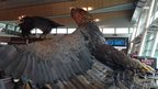Eagle sculpture in Wellington airport. Photo: Jeff Johnston