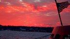 Red sky over Rhinecliff, New York, US. Photo: Peter J Scott