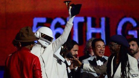 Daft Punk at the Grammys