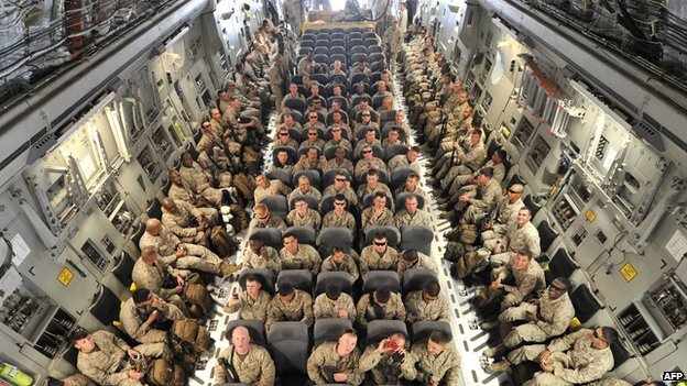 US troops travelling to Afghanistan