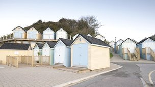 Beach huts in Alum Chine