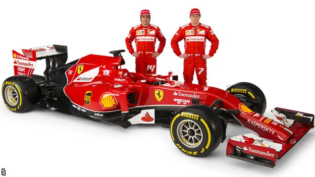 Ferrari drivers Fernando Alonso, left, and Kimi Raikkonen