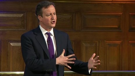 David Cameron speaking to the Federation of Small Business annual conference