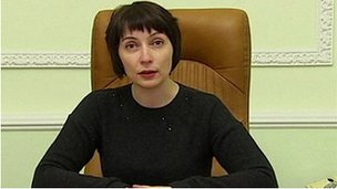 Ukraine Justice Minister Olena Lukash