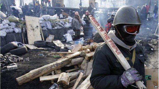 Protest camp in Independence Square, Kiev (27 Jan 2014)