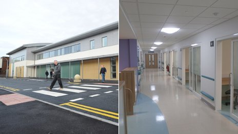 Outside and inside views of Burnley's new Urgent Care Centre