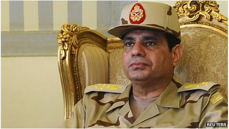 Gen Abdul Fattah al-Sisi (file image)