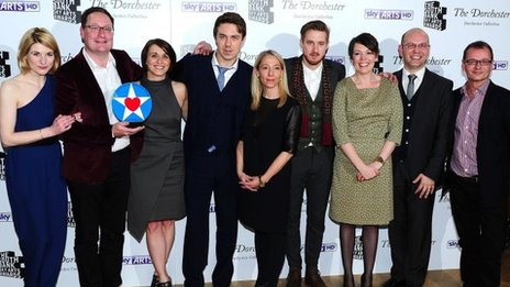 The Broadchurch cast and crew at the South Bank Awards