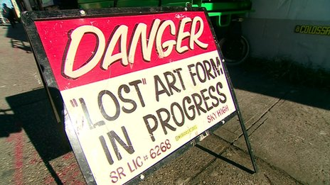 Lost art form sign