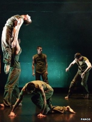 Ballet Boyz touring group The Talent performing Russell Maliphant's Fallen