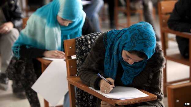 Students at Kabul University