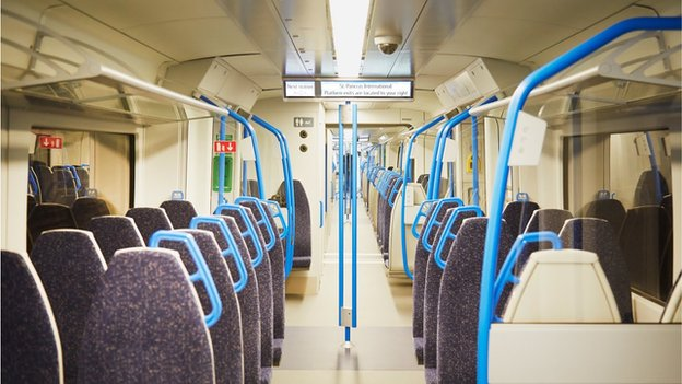 Inside the new Thameslink train
