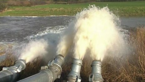 Water being pumped in Somerset