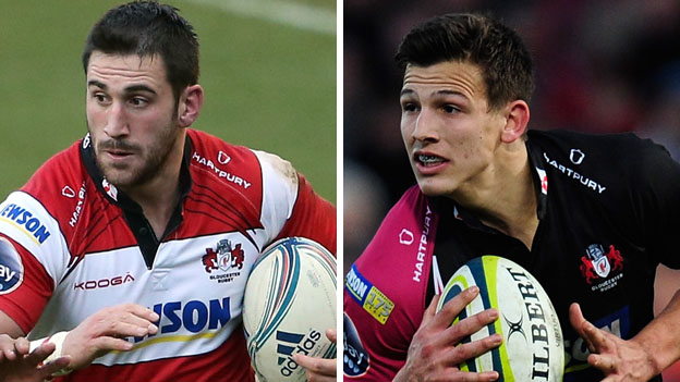 Gloucester duo Matt Cox (left) and Ryan Mills