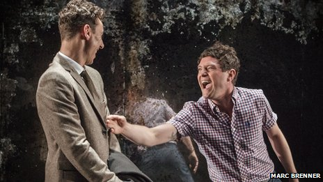 Mathew Horne (right) and Al Weaver in The Pride at Trafalgar Studios