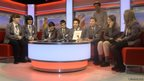 BBC School Reporters on the BBC Breakfast sofa