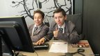 Two School Reporters in a BBC North office