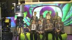 Group of School Reporters in the CBBC Newsround studio