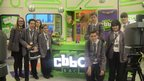 Group of School Reporters in the CBBC studio