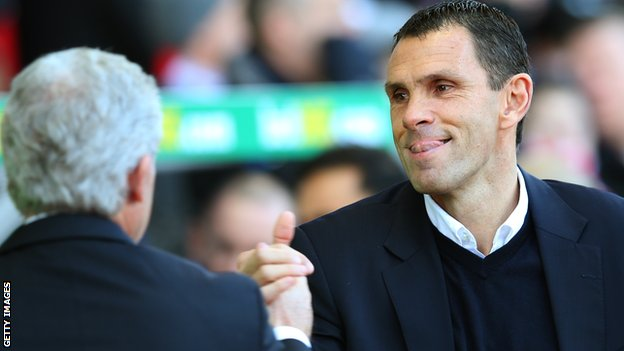 Gus Poyet and Mark Hughes