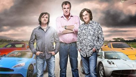 Richard Hammond, Jeremy Clarkson, James May on Top Gear