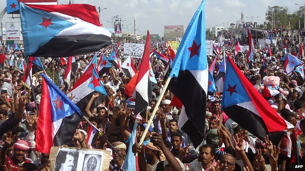 Protesters in Aden demand independence for the South (18 March 2013)