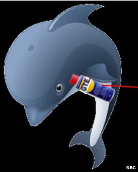 Squeaky Dolphin logo