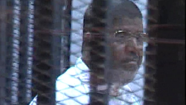 Mohammed Morsi in Cairo court