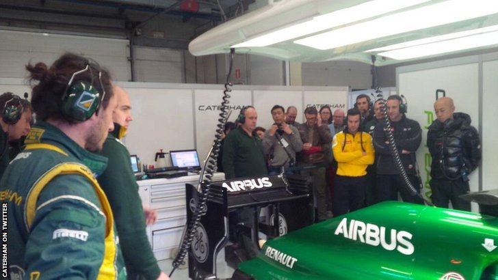 Caterham fire up their car