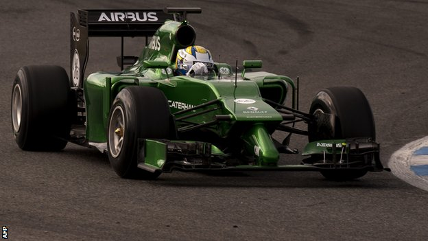 Caterham's new F1 car