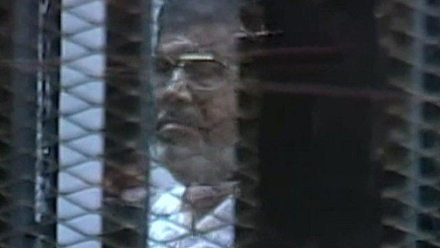 Mohammed Morsi in court