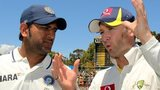India captain MS Dhoni and Australia captain Michael Clarke