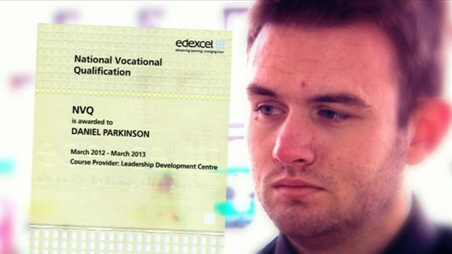 Oasis Academy student Daniel Parkinson said he has no qualifications