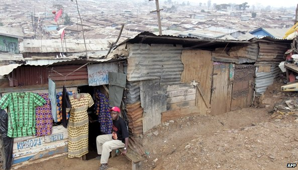 Kibera slum in Nairobi (January 2007)