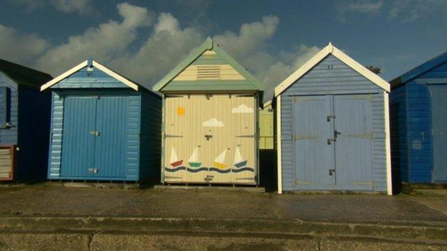 The beach hut on Friars Cliff in Christchurch