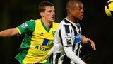 Loic Remy of Newcastle United and Ryan Bennett of Norwich City