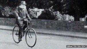John Dunlop on bike