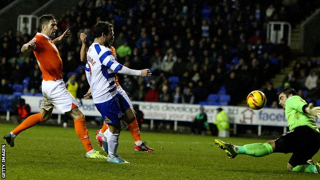 Adam Le Fondre scores a hat-trick as Reading beat Blackpool
