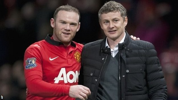 Wayne Rooney and Ole Gunnar Solskjaer
