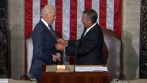 Joe Biden and John Boehner 28 January 2014
