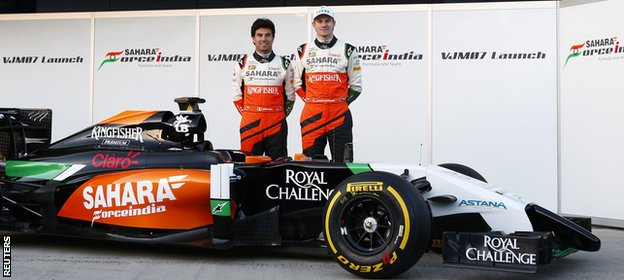 The Force India also has an unusual front
