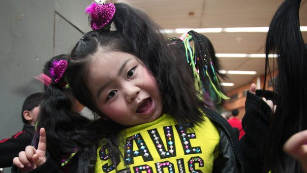 Yu Jieting, five years old, street dance performer