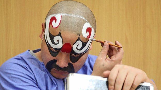 Wei Jiaqing, Peking opera performer, from Wuhan, Hubei province